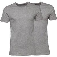 Puma Mens Two Pack Crew Neck T-Shirt Grey