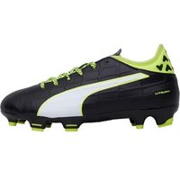 Puma Junior evoTOUCH 3 FG Football Boots Black/White/Safety Yellow