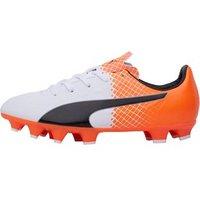 Puma Junior evoSPEED 4.5 FG Football Boots White/Black/Orange