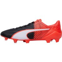 Puma Mens evoSPEED SL Leather II FG Football Boots Black/White/Red