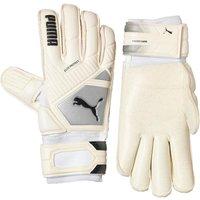 Puma Mens Elite Protect Professional Match Goalkeeper Gloves White/Black/Silver