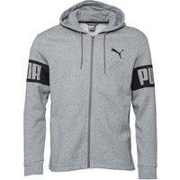 Puma Mens Rebel Full Zip Hoody Grey Marl