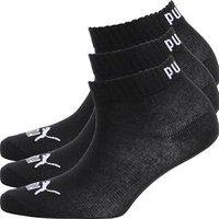 Puma Boys Two Pack Quarter Socks Black