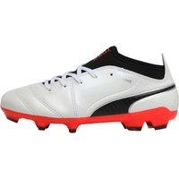 Puma Junior One 17.3 FG Football Boots White/Black/Fiery Coral