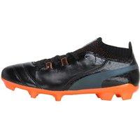 Puma Junior One Lux FG Football Boots Black/Black/Orange