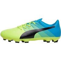 Puma Junior evoPOWER 3.3 AG Football Boots Safety Yellow/Black/Atomic Blue