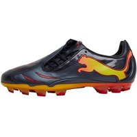 Puma Junior PowerCat 2.10 Tricks FG Football Boots Black/Red/Yellow