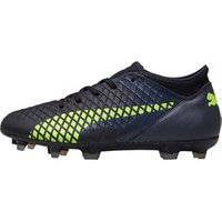 Puma Junior Future 18.4 FG/AG Football Boots Black/Fizzy Yellow/Asphalt