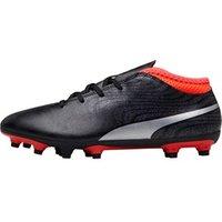 Puma Junior One 18.4 FG Football Boots Black/Silver/Red