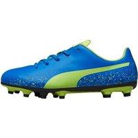 Puma Junior Truora FG Football Boots Electric Blue/Lemon