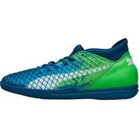 Puma Mens Future 18.4 IT Indoor Football Boots Deep Lagoon/Puma White/Green Gecko