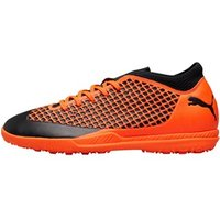 Puma Mens Future 2.4 TT Turf Astro Football Boots Puma Black/Shocking Orange