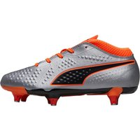 Puma Junior One 4 SYN SG Football Boots Puma Silver/Shocking Orange/Puma Black