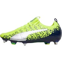 Puma Mens evoPOWER Vigor 1 Graphic MX SG Football Boots Safety Yellow/Silver/Blue Depths