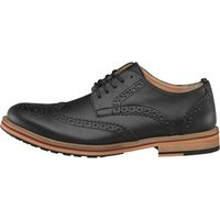 Peter Werth Mens Bale Leather Brogue Shoes Black