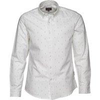 Peter Werth Mens Double Dot Oxford Button Shirt Optic White
