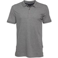 Peter Werth Mens Baran Polo Heather Charcoal Marl