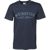 Weird Fish Mens Lang T-Shirt Moonlight Blue