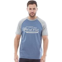 Weird Fish Mens Ling T-Shirt Washed Blue