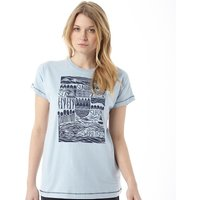 Weird Fish Womens Meadow T-Shirt Blue Surf