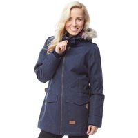 Trespass Womens Everyday Insulated Herringbone Parka Jacket Navy