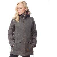 Trespass Womens Everyday Insulated Herringbone Parka Jacket Khaki