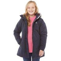 Trespass Girls Fame Insulated Waterproof Parka Jacket Navy