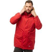 Trespass Mens Jaydin Insulated Waterproof Parka Jacket Red