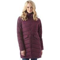 Trespass Womens Homely Padded Hooded Long Jacket Blackberry