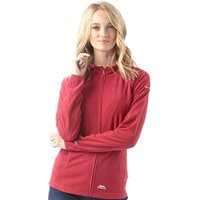 Trespass Womens Marathon Full Zip Hooded Fleece Jacket Cerise