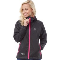 Trespass Womens Qikpac Waterproof Jacket Black