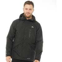 Trespass Mens Corvo Hooded Waterproof Shell Jacket Black