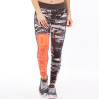 Reebok Womens One Series ACTIVChill Crazy Camo Tight Leggings Laser Red