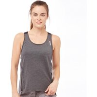Reebok Womens One Series Quick Cotton Tank Dark Grey Heather