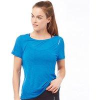 Reebok Womens Workout Ready Speedwick Light Slub T-Shirt Blue Sport
