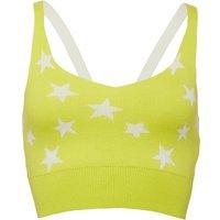 Reebok Womens Yoga Crop Top Hero Yellow