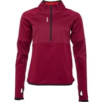 Reebok Womens One Series Hexawarm 1/4 Zip Top Rebel Berry