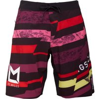Reebok Mens Les Mills Speedwick Printed Board Shorts Rio Red Picture