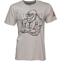 Reebok Mens Graphic Dual Blend Training Top Medium Grey Heathered