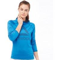 Reebok Womens Workout Ready Graphic Speedwick Hoody Blue/Navy