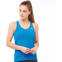 Reebok Womens Workout Ready Speedwick Light Slub Tank Blue Sport