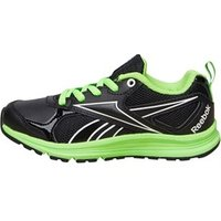 Reebok Junior Almotio RS Brights Neutral Running Shoes Black/Solar Green/White