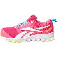 Reebok Junior Hexaffect Sport Neutral Running Shoes Rose Rage/Crisp Blue/Hero Yellow/White
