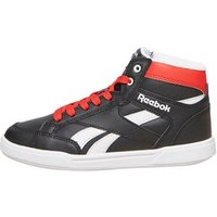 Reebok Junior Royal Court Mid Trainers Black/White/Riot Red