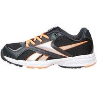 Reebok Junior Almotio Neutral Running Shoes Gravel/Solar Orange/Black/White/Silver Metallic