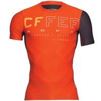 Reebok Mens CrossFit Speedwick Compression Top Carotene