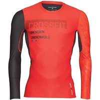 Reebok Mens CrossFit Long Sleeve Compression Top Riot Red