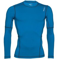 Reebok Mens Workout Ready Speedwick Compression Long Sleeve Top Insignia Blue