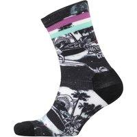 Reebok Womens CrossFit Printed Crew Socks Black