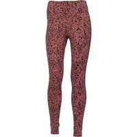 Reebok Womens High Rise Lux Bold Leggings Speckle Print Sandy Rose